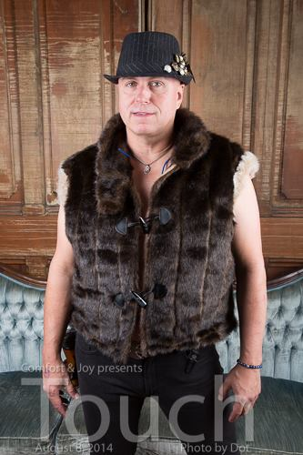 Fur vest with silk lining